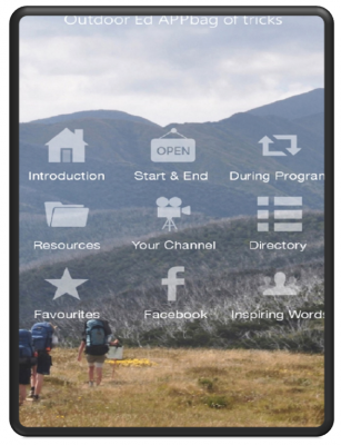 And then we also made a home grown APP filled with nature and outdoor education resources!